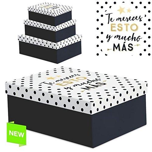 Foto de Juego 3 cajas regalo diseño frases