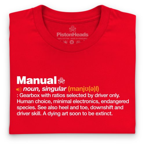 PistonHeads Manual T-Shirt, Herren Rot