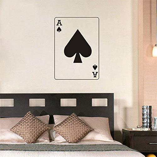 yiyiyaya Neue Ankunft Aushöhlen PVC Removable Home Decor Poker Pikass Wandaufkleber Für Schlafzimmer Kinder Kinderzimmer Decorati 80x58 cm