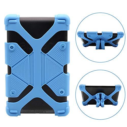 INTVN Universelle Silikon-Schutzhülle mit Ständer, einstell- und ausziehbar, stoßfest, für 7- bis 8-Zoll-Tablet-PCs, iPad, Samsung, Chuwi Tablet blau