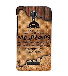 Love Quote 3D Hard Polycarbonate Designer Back Case Cover for Micromax Canvas Spark Q380