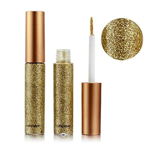 Gold-glitter Make-up (LQZ Lidschatten Flüssig Glitzer Eyeliner Wasserdicht Pigment Glitter - Gold)