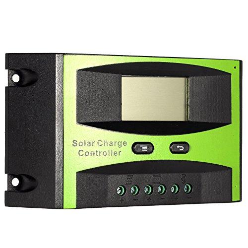 KKmoon 20A 12V/24V Solar Laderegler PWM Aufladung Temperatur Kompensation Überladung Schutz LCD Display für netzunabhängige Solaranlage - 2