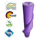 Yogamatte von KlarGeist® - kontrolliert und zertifiziert für Ihre Gesundheit - Oeko-Tex zertifiziert (Lila)