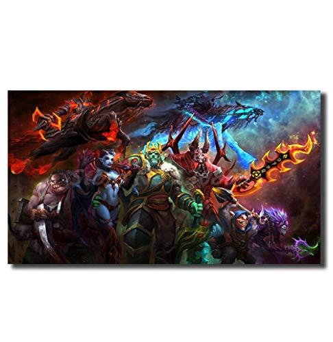 ZKPWLHS Leinwanddrucke 1 Stücke World of Warcraft Dota 2 Wallpaper Von Verfluchten Waffen Hd Wandkunst Leinwand Wohnzimmer Dekoration 60 * 90 cm Mit Rahmen (Dota 2 Wallpaper)