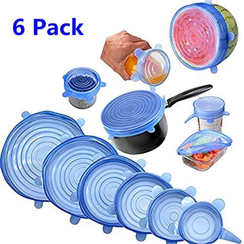 ec6035cb08c Tapas de silicona elásticas, Tapadera flexible extensible, reutilizable para  proteger los alimentos, ajustables