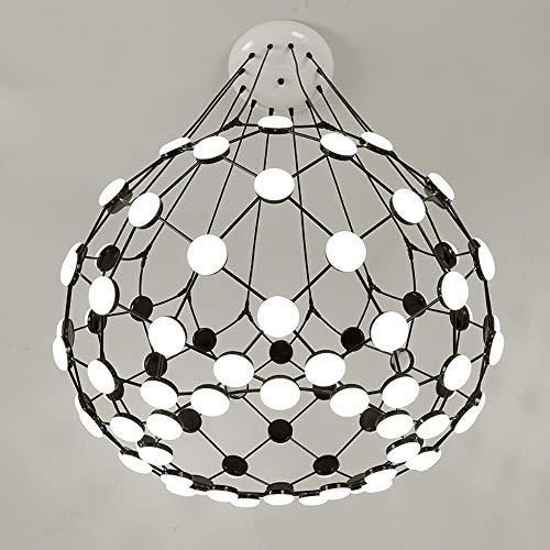 Neue ankunft moderne schwarze schachfiguren pendelleuchte globus kreative hängelampe moderne droplight warmweiß 3000 karat, durchmesser 60 cm, warmweiß 3000 karat
