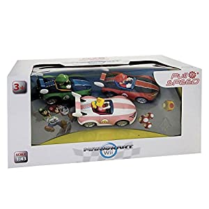 Pull and Speed 15813001, Mario Kart, 3 Pack