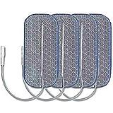 Electrodes Dura-stick Premium à fil 1 sortie - 40 x 90 mm - Sachet de 4 électrodes