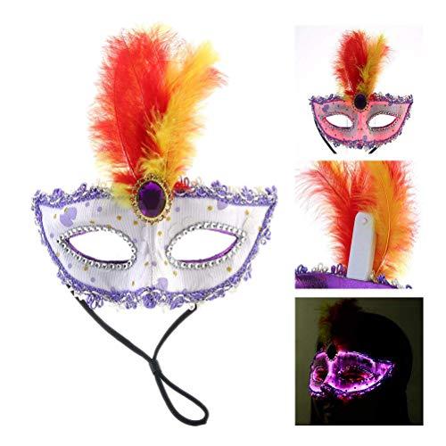Eiseyen usb charging led lampada cravatta maschera papillon accessori party