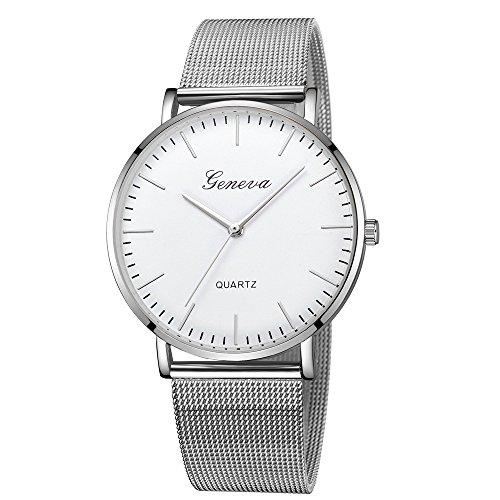Damen Uhren,Pottoa Genf Damen Klassische Quarzuhr | Edelstahl Armbanduhr Armband Uhren |Damen Uhren Billig | Armbanduhr Damen Uhr Edelstahl Armband (L)