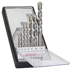 Bosch 2607010545 Rundschaftbohrer 7 tlg. Silver Percussion Bohrer Set