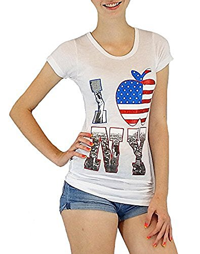 daec2b4d0956 SLU angesagtes DamenShirt mit tollem New YorkPrint Größe S  M 34, M ...
