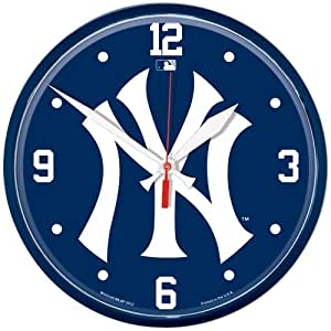 wincraft baseball new york yankees mlb horloge murale sports et loisirs. Black Bedroom Furniture Sets. Home Design Ideas