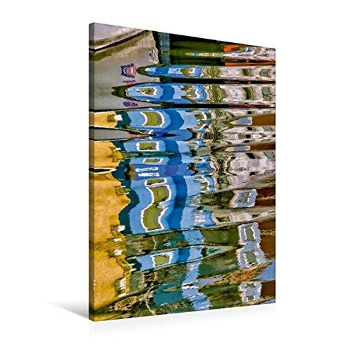 Calvendo Premium Textil-Leinwand 60 cm x 90 cm hoch, Venezianische Wasserreflexion 8 | Wandbild, Bild auf Keilrahmen, Fertigbild auf Echter Leinwand, Leinwanddruck Orte Orte