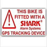 5 x Bicycle Security Stickers-GPS Tracker-Tracking DeviceWarning-Mountain,Racing,Bike,Cycling,Motorbike,Motorcycle,BMX-Shark Alarm Systems