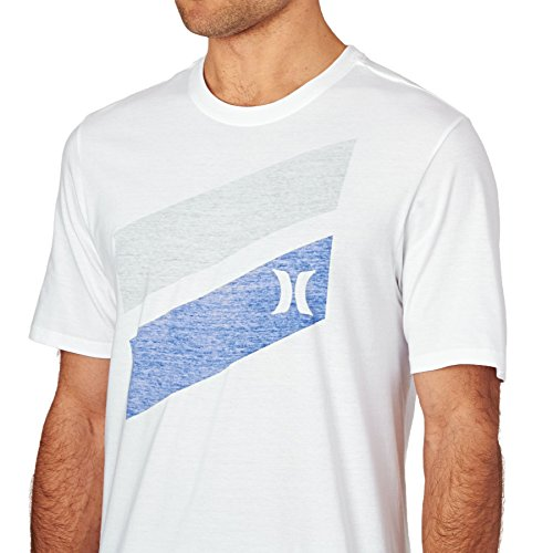 Hurley T-shirt ~ spinta barra attraverso nero Bianco
