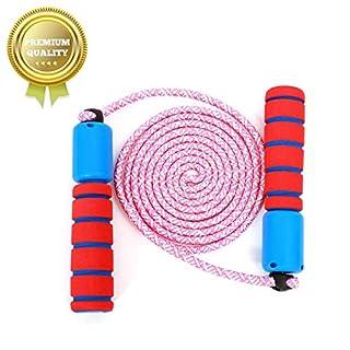 Sunshine smile Springseil Speed Rope mit Zähler Und Komfortablen & Anti-Rutsch Griffen für Fitness und Boxen (Rot blau)