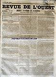 Telecharger Livres REVUE DE L OUEST No 73 du 19 06 1855 JOURNAL POLITIQUE ET D ANNONCES (PDF,EPUB,MOBI) gratuits en Francaise