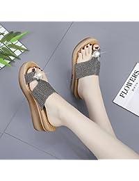 Sandalias de Verano Nuevas Modas, Zapatillas de Dedo del pie, Taladro de Agua de Moda, Zapatillas de Mujer Frescas...