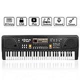 Piano numérique de clavier de musique, JINRUCHE 61 touches enfants Piano Portable Clavier électronique Instrument de musique Multifonction apprentissage précoce jouet éducatif