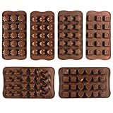 JPSOR 6 PCS Candy Stampi, stampi per cioccolato, silicone Stampi, Ghiaccio Stampi, Sapone Stampi, silicone cottura Stampi, Cuore, Fiore, Stella, Square & Animal-Shaped Gift Set