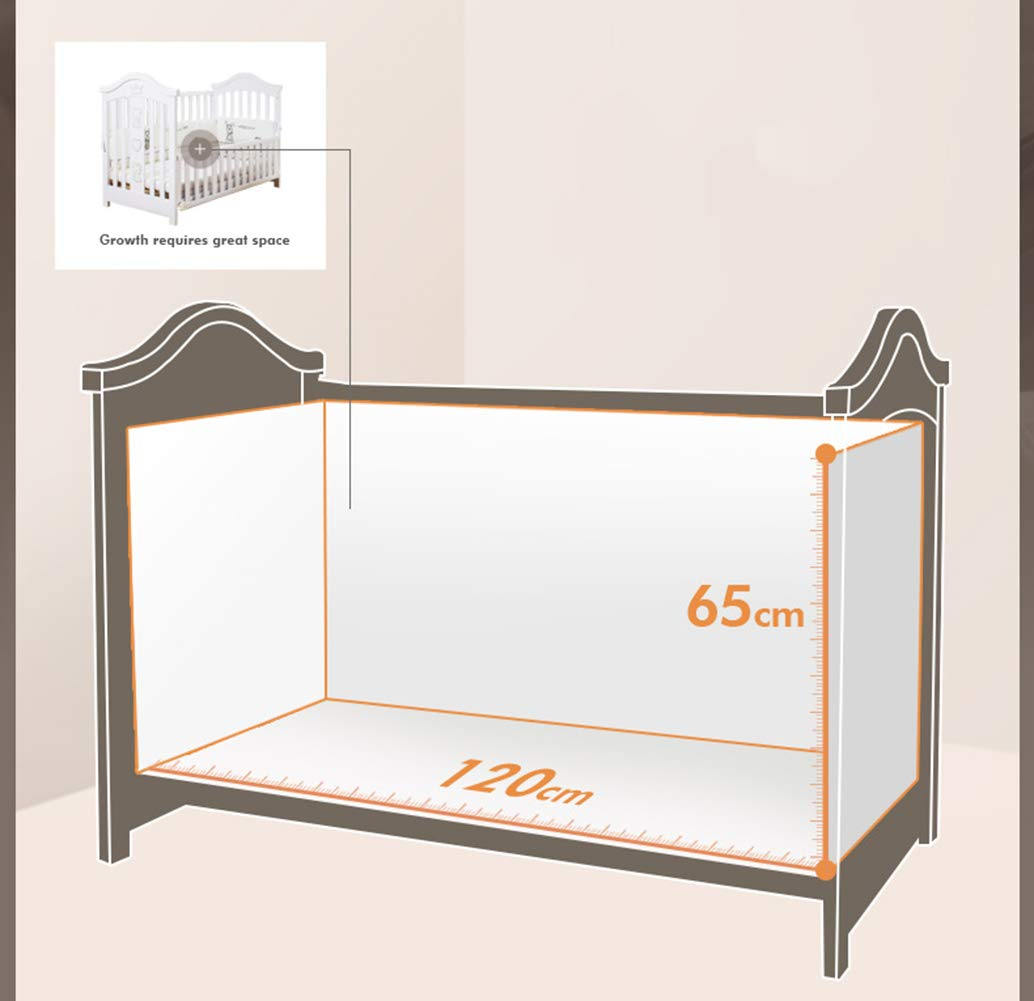 XUNMAIFLB Removable Toddler Bed, Wooden Baby Cot Bed, Crib, Solid Wood Splicing Bed, Cradle Bed (outer Diameter: 126.5 * 73.5 * 104cm/inner Diameter: 120 * 65cm) Safety XUNMAIFLB 6-12 months: The bed of the growing bed is adjusted to a safe depth of 2 blocks to protect the baby during the crawling period. 0-6 months newborn bed: 55.5cm scientific height, no need to deep bend, reduce spinal strain. More than 18 months: the sofa chair/teen bed sidebar removes the half-guard bed and cultivates the baby's ability to fall asleep independently. Can also be used as a sofa chair! 6