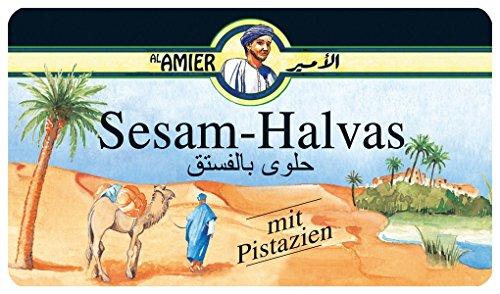 Amier - Sesam-Halvas - mit Pistazien 100g