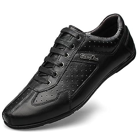 Ddstar , Chaussures de ville à lacets pour homme - noir - noir,