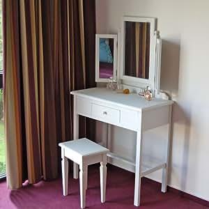 frisiertisch schminktisch frisierkommode bordeaux weiss 3 spiegel k che haushalt. Black Bedroom Furniture Sets. Home Design Ideas