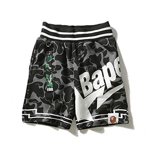 goahead bape Mens Pants BAPE Star Camouflage Black Ribbon Shorts