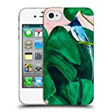 Head Case Designs Offizielle Mai Autumn Monstera Pflanze Voegel Soft Gel Hülle für iPhone 4 / iPhone 4S
