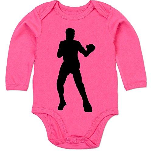 12-18 Monate - Fuchsia - BZ30 - Baby Strampler aus organischer Baumwolle für Mädchen und Jungen (Herren-boxer Strampelanzug)