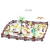 Fdit Dinosaurier Spielzeug 68 Teile Simulation Kunststoff Zoo Wilde Tiere Zaun Baum Modell Kinder Kinder Spielen Spielzeug Set Spiel Utensil