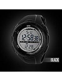 392b8597f41e CALISTOUS para hombre reloj de Hombre de Sport Digital LED cuarzo de goma  militar de titanio