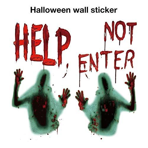 Halloween Party Ideen Für Jugendliche - waysad 2 STÜCKE Halloween Wandaufkleber -