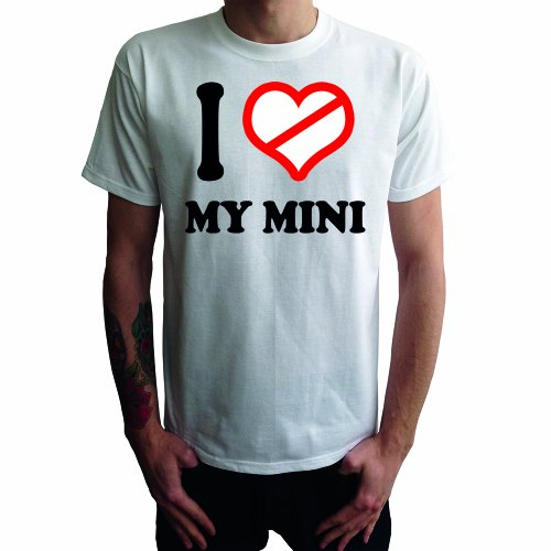I don't love my Mini Herren T-Shirt Weiß