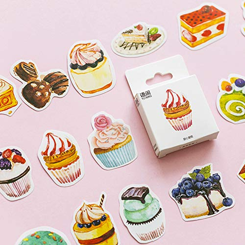 AYRSJCL 50Pcs Sweet Honey Cakes Aufkleber Set Dekorative Sticker ScrapbookingDiary Album-Stock-Lable -