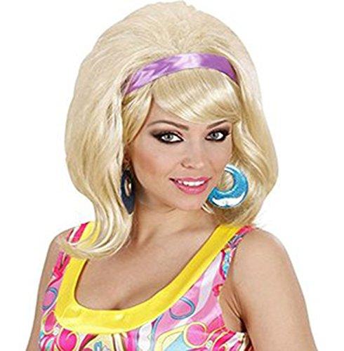 Sofias Closet Damen 50s 60s blond schwarz braun Brunette Mod Go Go Girl Fancy Dress Perücke
