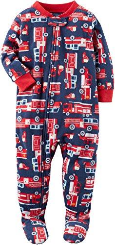 Carter's Baby Boys' 12M-24M One Piece Firetruck Fleece PJs 24 Months
