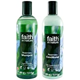 Faith In Nature Rosemary Shampoo 400ml & Conditioner 400ml Duo