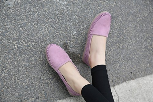 CFP ,  Damen Durchgängies Plateau Sandalen mit Keilabsatz Violett