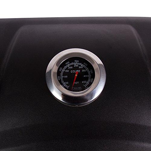 51Jo3nuwkwL - CCLIFE Gasgrill Gas Grill Grillwagen BBQ 3/4/5/6 Hauptbrenner mit Seitenkocher Gas-Grill Tüv Geprüft, Farbe:Schwarz, Größe:6+1 Brenner mit Zubehör