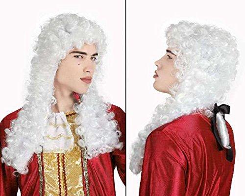 LIBROLANDIA 12914 SC/PVC PARRUCCA DA NOBILE BIANCA (1600 Herren Kostüm)