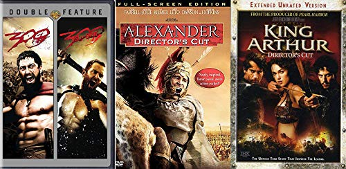 Ye Olden Times Greatest Battles Relived On The Big Screen: 300/ 300 Rise Of An Empire & King Arthur (Extended + Unrated) & Alexander (Full Screen Director's Cut) 3 DVD Collection
