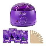 Wax Heater, Hair Removal Waxing Kit, Electric Wax Warmer with 4 Hard Wax