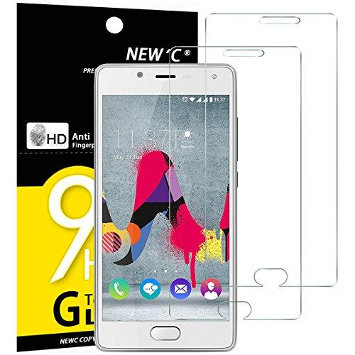 NEW'C Verre Trempé pour Wiko U Feel Lite,[Pack de 2] Film Protection écran - Anti Rayures - sans Bulles d'air -Ultra Résistant (0,33mm HD Ultra Transparent) Dureté 9H Glass