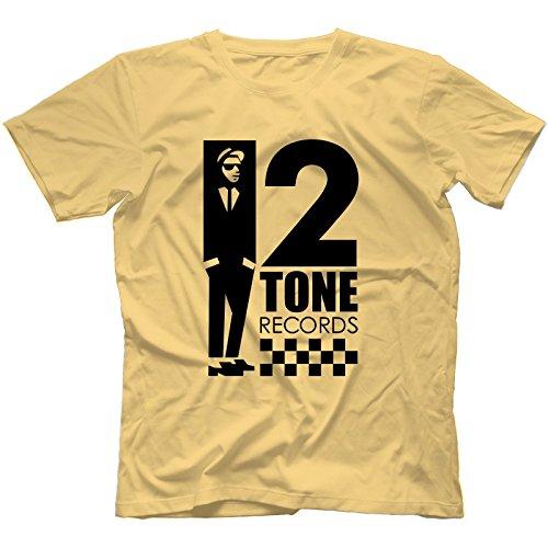 2-tone-records-t-shirt-100-cotton-reggae-ska-trojan-rocksteady-the-specialslargelight-yellow