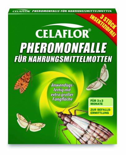 Celaflor 1396 Trappola a feromoni per tarme del cibo, confezione da 3