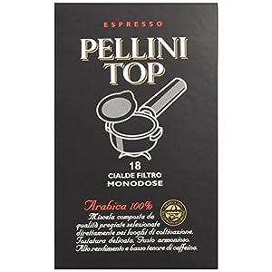 Pellini Caffè - Espresso Pellini Top Arabica 100%, (6 Confezioni da 18 Cialde Monodose, Totale 108 Cialde), Compatibili con Sistema E.S.E. (Dm 44 mm)